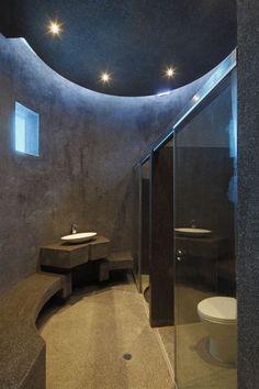 A House Forever / Longhi Architects. Unique bathroom design.