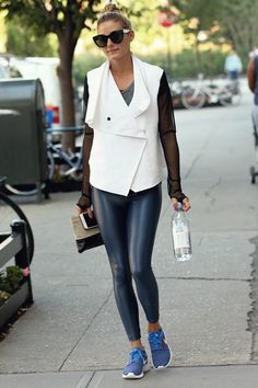 Olivia Palermo wearing #spandexleggings http://www.leathercelebrities.com/photos/entry/olivia-palermo-out-in-nyc1/