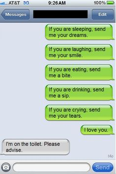 SEND ME YOUR LOVE....  OMG, Can't stop laughing!