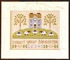Sheep Cross Stitch, Cross Stitch House, Cross Stitch Samplers, Cross Stitch Kits, Counted Cross Stitch Patterns, Cross Stitch Designs, Cross Stitching, Cross Stitch Embroidery, Embroidery Patterns