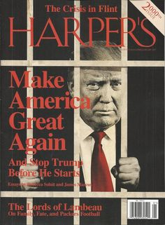 Harpers magazine Donald Trump Crisis in Flint The lords of Lambeau football