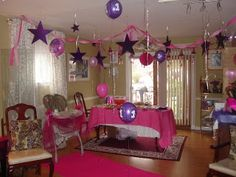 purple divas party   Take note of the hot pink carpet - fit for a true Mini Diva