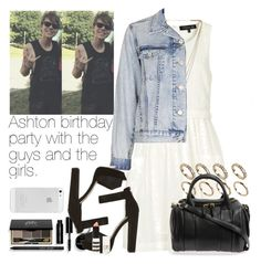 """""""Ashton birthday party with the guys and the girls♡"""" by welove1 ❤ liked on Polyvore featuring moda, Topshop, Melanie Auld, Bobbi Brown Cosmetics, ALDO i Alexander Wang"""