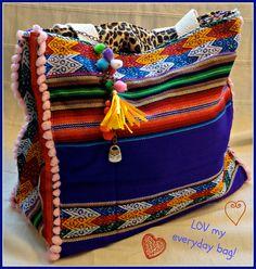 Mexican Blanket Aguayo Reversible Bag.