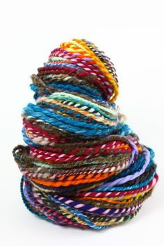 hand-spun rainbow madness wool • volomortuus