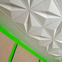 Crystal FoldScapes Ceiling Tiles by MIO  to cheaply replace ugly drop ceilings