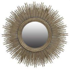 Sunburst Round Mirror Silver