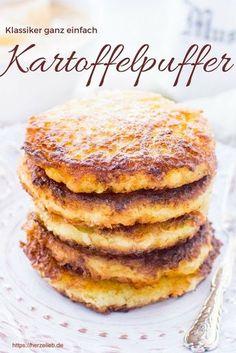 Kartoffel Rezepte: Leckere Kartoffelpuffer, Reibekuchen, Reiberdatschi - mit diesem Rezept werden sie superknusprig #hausmannskost #kartoffel #herzelieb #pfanne #foodblog #deutsch