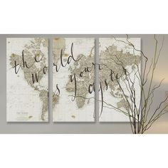 iCanvas 'The World Is Your Oyster' by Sara Zieve Miller 3 Piece Painting Print on Canvas & Reviews | Wayfair
