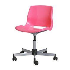 SNILLE Chaise pivotante IKEA La hauteur de la chaise est réglable et offre un grand confort d'assise.