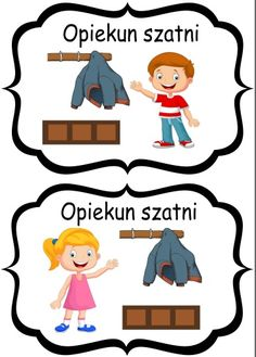 opiekun szatni Games For Kids, Montessori, Kindergarten, Crafts For Kids, Preschool, Family Guy, Clip Art, Classroom, Teaching