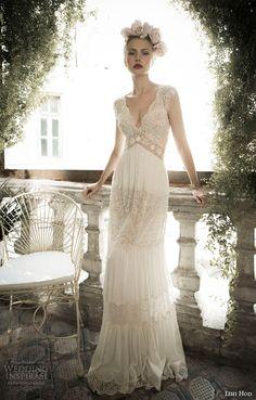 http://www.weddinginspirasi.com/2014/05/10/lihi-hod-spring-2014-wedding-dresses-bijoux-bridal-collection/ lihi hod bridal spring 2014 ginger lily #wedding dress front view #weddings #bridal #weddingdress