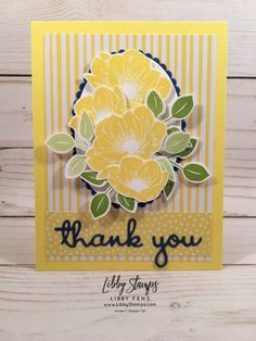 Floral Essence Thank You - Libby Fens, Stampin Up! Demonstrator
