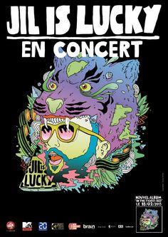 Jil Is Lucky Tour Poster: it was amazing! Tour Posters, Comic Books, Tours, Album, Rock, Comics, Concert, Amazing, Music