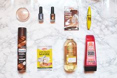 beauty, unboxing, makeup, woman, highlighter, nailpolish, kiko, mask, mascara, dry shampoo, remover, shower gel
