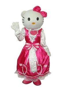 2nd Version Hello Kitty in Pink Dress Mascot Adult Costume