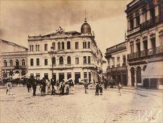 """Navegação por local """"São Paulo"""" Praça da Sé, anos 1900. anônimo."""