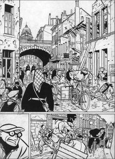 Page 59 of Nicolas Balaresque's Yves Chaland: L'Enfance de l'oeil shows Chaland at his absolute best.
