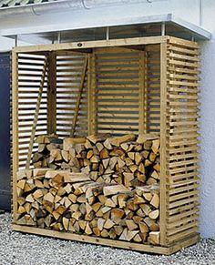 Firewood Rack & Best Storage Ideas In Backyard 44 Outdoor Firewood Rack, Firewood Shed, Firewood Storage, Outdoor Storage, Stacking Wood, Wood Storage Sheds, Wood Store, Art Deco Home, Potting Sheds