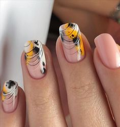 How To Do Chic Natural Short nails Design For Summer Nails - Latest Fashion Trends For Woman Short Square Nails, Nails Short, Long Nails, Fall Nail Art Designs, Short Nail Designs, Cool Nail Designs, Sqaure Nails, Nails First, Happy Nails