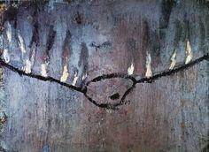 """Anselm Kiefer -- Palette Am Seil 1981 Oil and acrylic on canvas 210 x 320 cm    82⅝ x 128"""""""