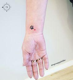 Small Dog Tattoos, Tiny Tattoos For Girls, Little Tattoos, Mini Tattoos, Tattoos For Women Small, Cute Tattoos, Tribal Tattoos, Tatoos, Classy Tattoos