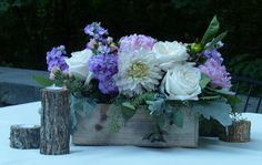Rustic look centerpieces