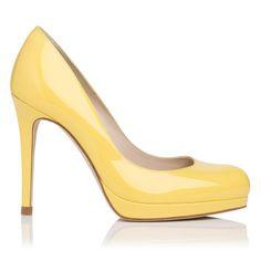 Sledge Patent Leather Platform Court Shoe