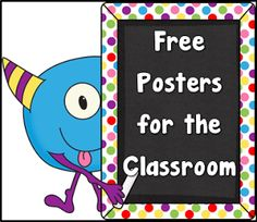 Free Posters or Anchor Charts for the Classrom Teacher's Take-Out