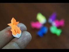 Mini Origami - How to make Mini Goldfish Origami (Reuploaded)