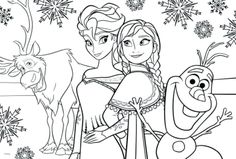 Free Printable Frozen Coloring Pages For Kids Coloring Pinterest