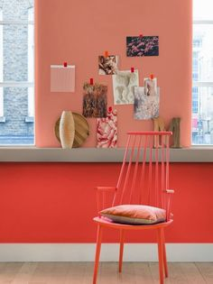 Dulux colour of the year 2015 Copper Blush looks great with a deeper coral - pick one for your walls and one for your shutters. Pared Color Salmon, Orange Pastel, Copper Blush, Wall Paint Colors, Color Of The Year, Elle Decor, Bauhaus, Color Trends, Wall Colors