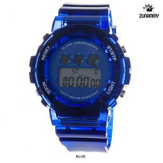 Zunammy Unisex Digital Multifunction LED Water Resistant Watch - Assorted Colors at 77% Savings off Retail!