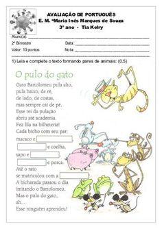 Avaliação de português 2º bim