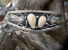 Bracelet made from elk ivories Antler Jewelry, Gypsy Jewelry, Metal Jewelry, Silver Jewelry, Cowgirl Jewelry, Bullet Jewelry, Handmade Bracelets, Beaded Bracelets, Leather Bracelets