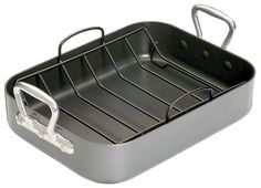 Kitchen Craft Premium Roaster Set with Side Handles and Non-Stick Rack >>> See this great image  : Roasting Pans