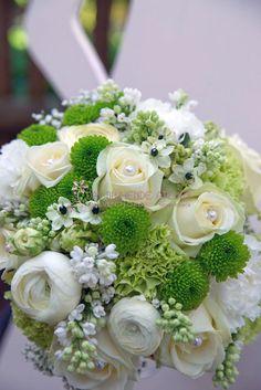 """grün/weiss - genau wie mein """"alter"""" #Brautstrauß :)"""