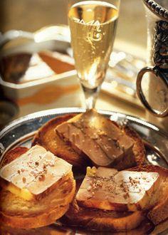 Foie gras de canard poêlé et champagne