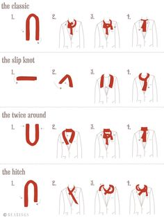 How to tie a scarf - for men.............. To educate those that don't know. Like me.