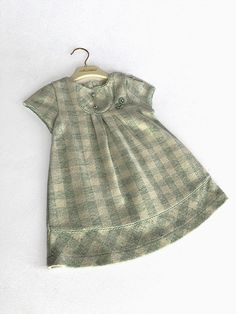White soft dress with light green and white square print. Shop at BabbleBaby fashion and stylish kids clothes Stylish Baby, Stylish Kids, Stylish Dresses, Special Occasion Dresses, Baby Dress, Summer Dresses, Inspiration, Shopping, Clothes