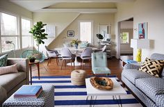 Not the furniture itself- the layout. Exclusive: Jenna Bush Hager's Stunning Beach House Makeover – One Kings Lane — Our Style Blog