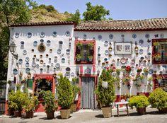 Decorated house in Sacromonte, Granada's gitano neighborhood