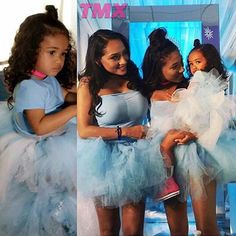 Over the weekend Chris Brown's daughter, Royalty Brown enjoyed a Winter Wonderland themed birthday party with her another, Nia Guzman and big sister. Royalty turned the big 2!