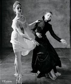 Gelsey Kirkland (right), with dancer Mary Mills Thomas. Photo by Mary Ellen Mark.