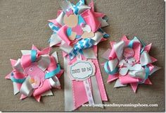 Baby Shower Corsages; Ribbon Corsages; Mom to Be Corsage; Grandmother Corsages; Baby Girl
