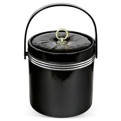Check Out This Item At One Kings Lane! 1970s Black Ice Bucket 1970s Black  Vinyl