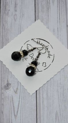 Excited to share the latest addition to my #etsy shop: Black Crystal Earrings - Elegant Dangle Drop Earrings - Earrings Handmade - Gift For Her - Victorian Earrings - Jewelry Gift For Women https://etsy.me/2JtQvFq #jewelry #earrings #black #anniversary #earwire #no #gi