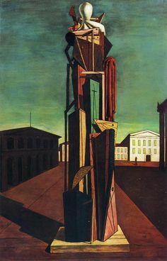 """""""Il grande metafisico"""", 1917, olio su tela, Museum of Modern Art, New York. Giorgio De Chirico"""