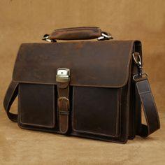 Hand stitched leather messenger bag(c124)