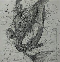 Mistura de dragão com ave, uma das minhas criações